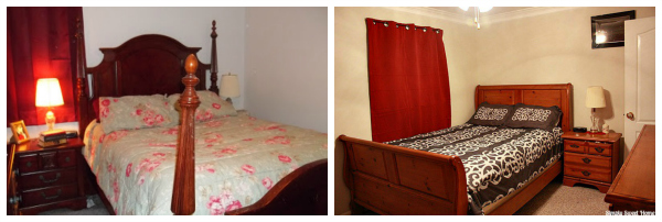 Bedding Before and After