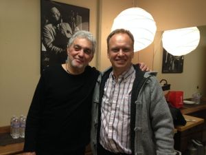Jeff Lardner with drumming legend Steve Gadd