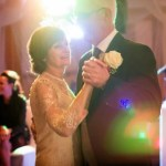 older couple first dance at Warren House