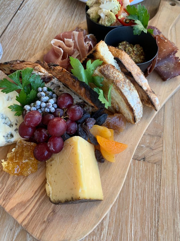 charcuterie board at hotel june