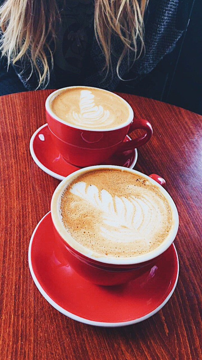 Coffee Date no.7; Red Cups & Relaxation on Lake Michigan