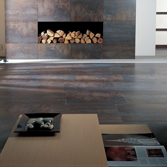 ferroker_export - ceramic and natural stone living room