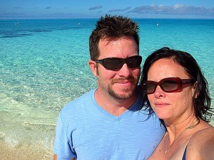 """Look at these """"Turtles Travel"""" - Donny & Tamara hanging at the beach in the Bahamas"""