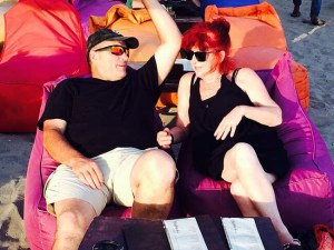 """Gordon & Paula, the """"Contented Traveller"""" relaxing in Bali, Indonesia"""