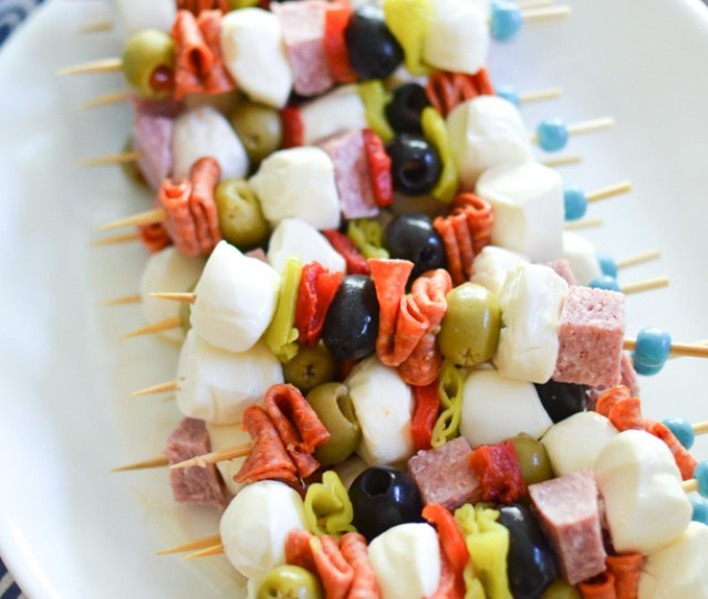 Antipasto Skewers Easy Appetizer Recipe Simplywhisked Com