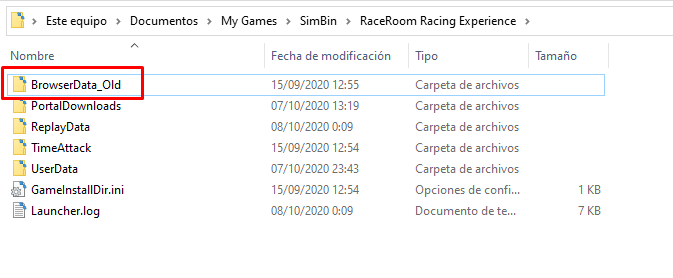error 503 al abrir raceroom