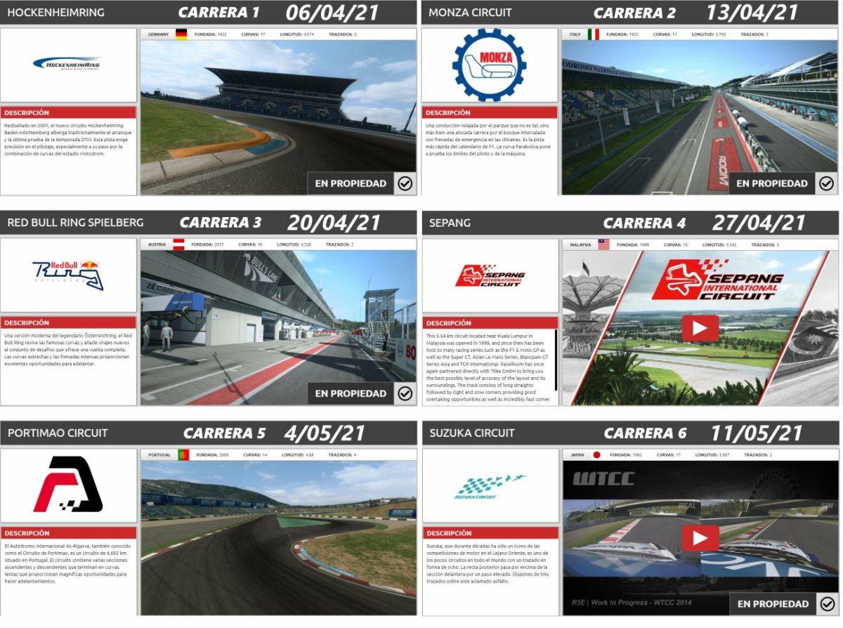 campeonato GT3 raceroom vrg power
