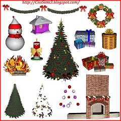 Sims 3 Livingroom Furniture Objects Decor Christmas
