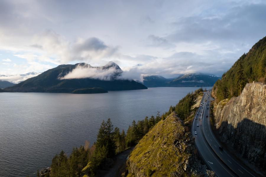 Uitzichten op Canadese bergen