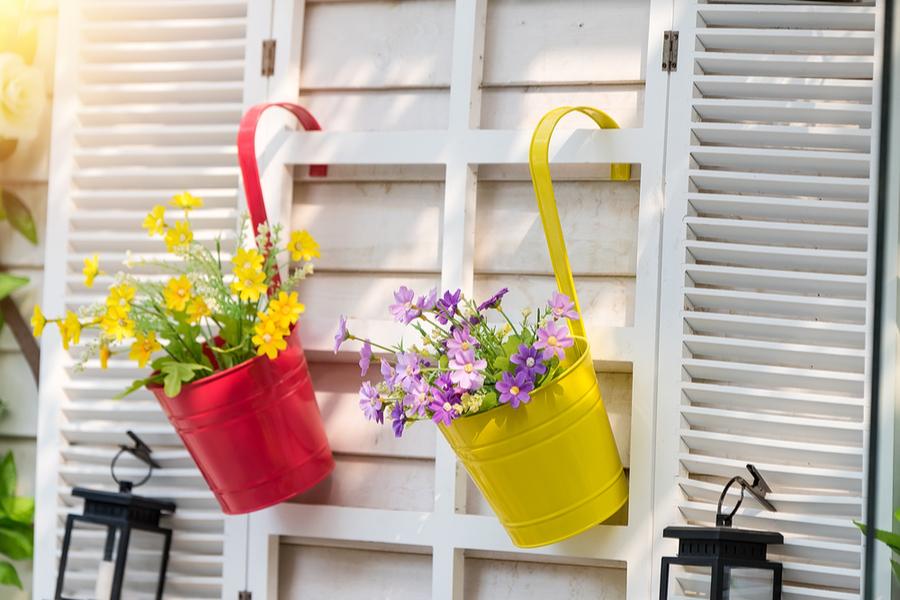 vrolijke lentetuin