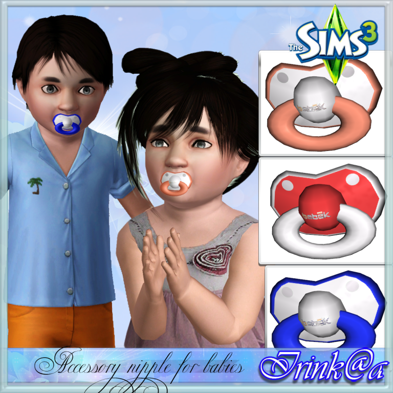 Accessory nipple for babies