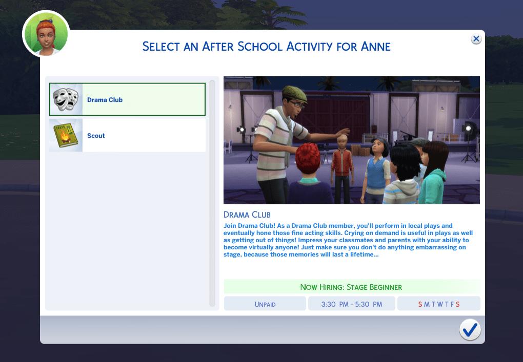 The Sims 4: Get Famous Drama Kulübü