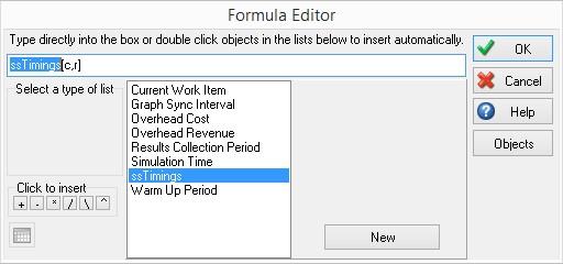 SIMUL8 Formula Editor