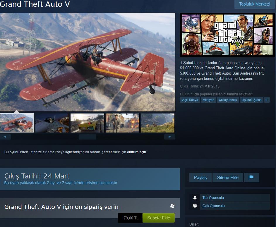 GTA 5 Steam'de Ucuzladı!