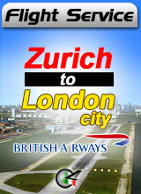 Flight Service BA024 - Zurich to London City