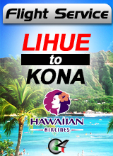 Flight Service  HA530 - Lihue to Kona Intl