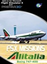 Perfect Flight - FSX Missions Alitalia B747-400 FSX/P3D