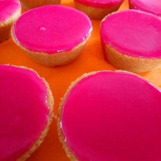 Vegan roze koek Sin Carne
