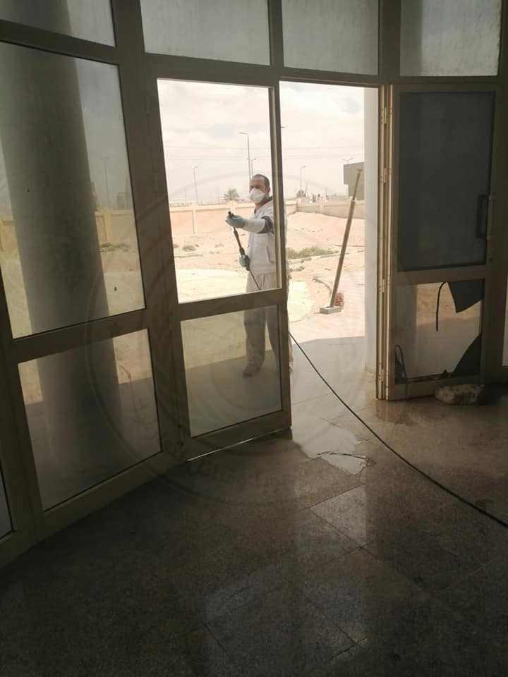41870 تطهير وتعقيم المنشأت الصحية بشمال سيناء 7 - وكالة سيناء نيوز