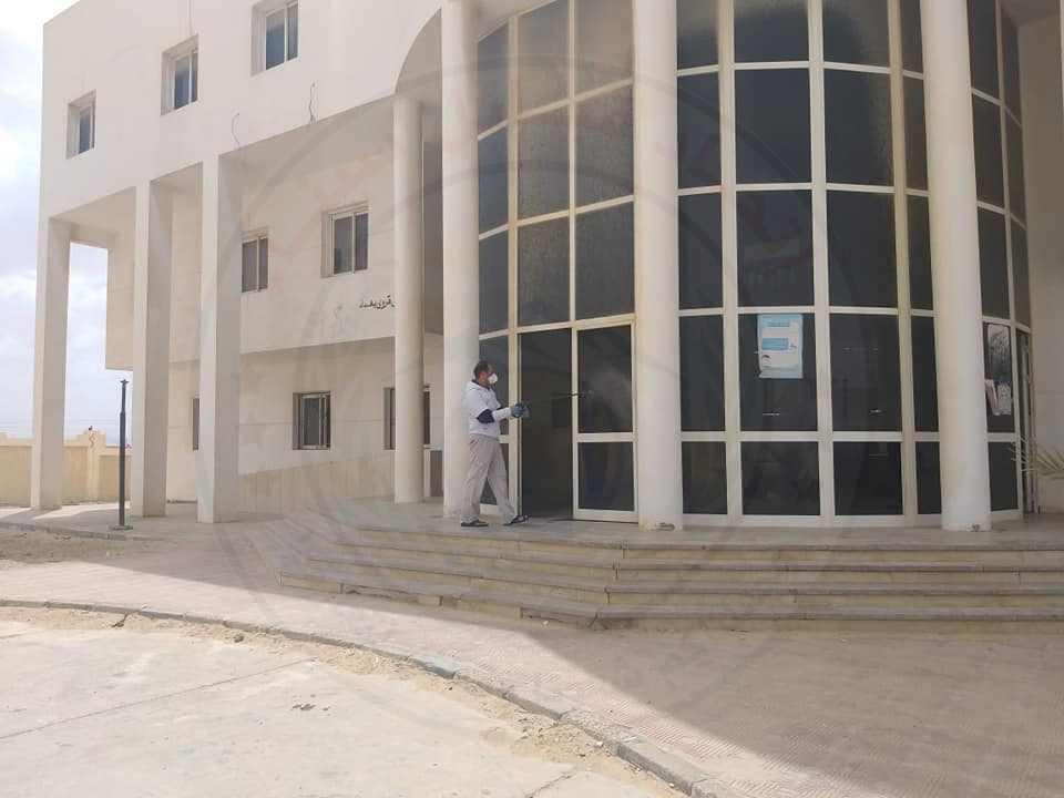 52125 تطهير وتعقيم المنشأت الصحية بشمال سيناء 2 - وكالة سيناء نيوز
