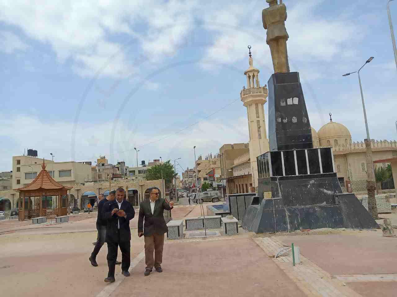 نائب محافظ شمال سيناء يتفقد المشروعات التنموية بمدينة العريش 1 - وكالة سيناء نيوز