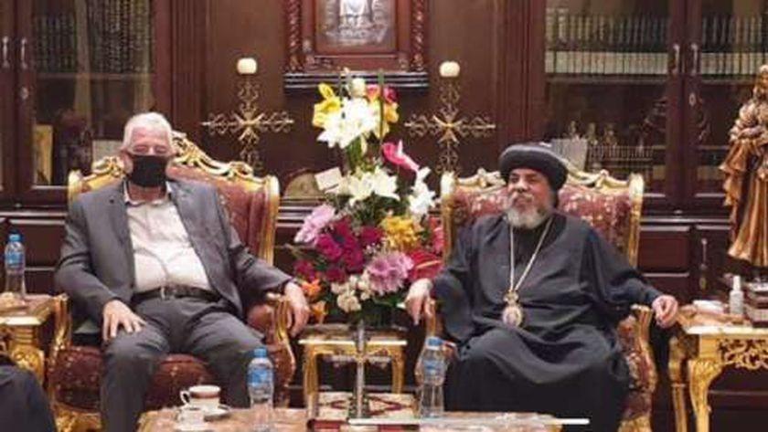محافظ جنوب سيناء يزور كاتدرائية السمائيين بمدينة شرم الشيخ