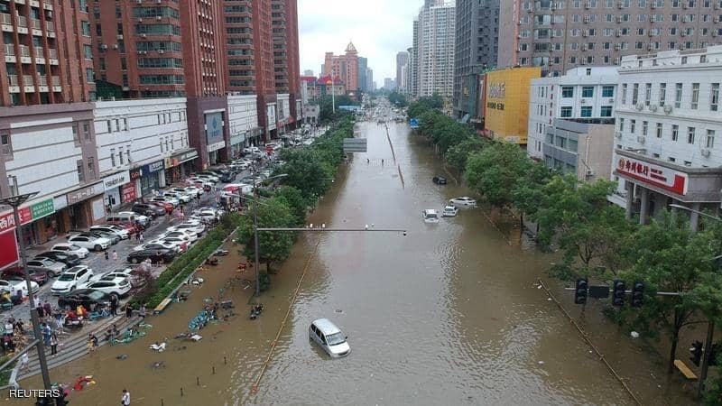ارتفاع حصيلة ضحايا الفيضانات في الصين إلى 58 شخصا