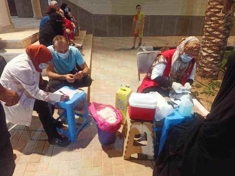 اقبال المواطنين على حملة الكشف عن الاعتلال الكلوي - وكالة سيناء نيوز