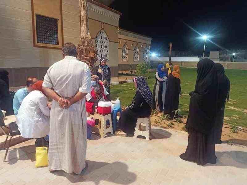 اقبال المواطنين على حملة الكشف عن الاعتلال الكلوي1 - وكالة سيناء نيوز