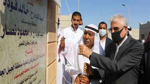 محافظ جنوب سيناء يفتتح مشروع إنشاء 62 منزلا بدويا