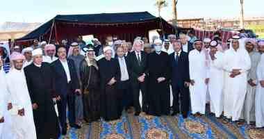وزير الأوقاف ومحافظ جنوب سيناء يلتقون شيوخ القبائل.. صور