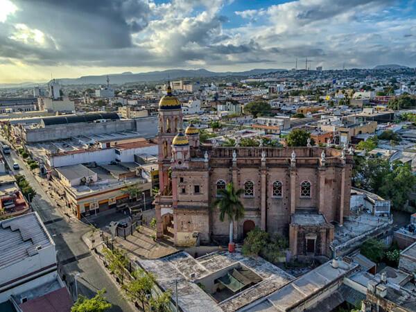 El Santuario de Culiacán. Fotografía aérea