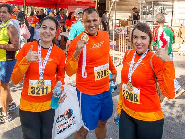 Finalistas del maratón