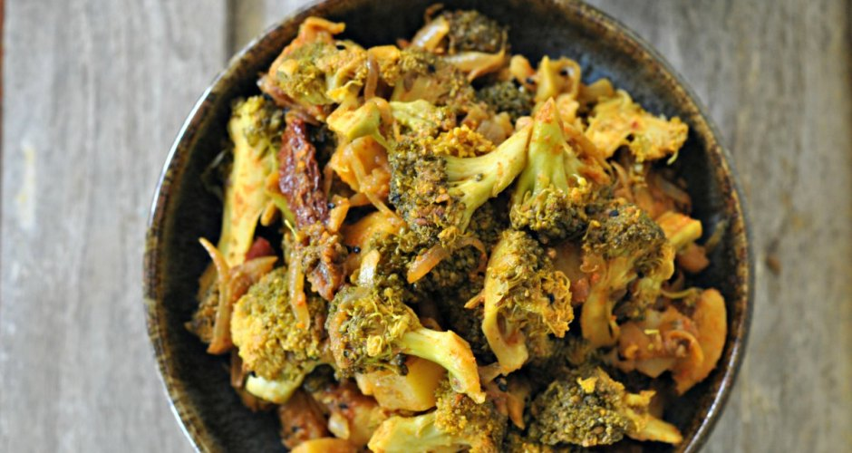 Achari Broccoli – Broccoli Cooked In Tangy Achari Spices