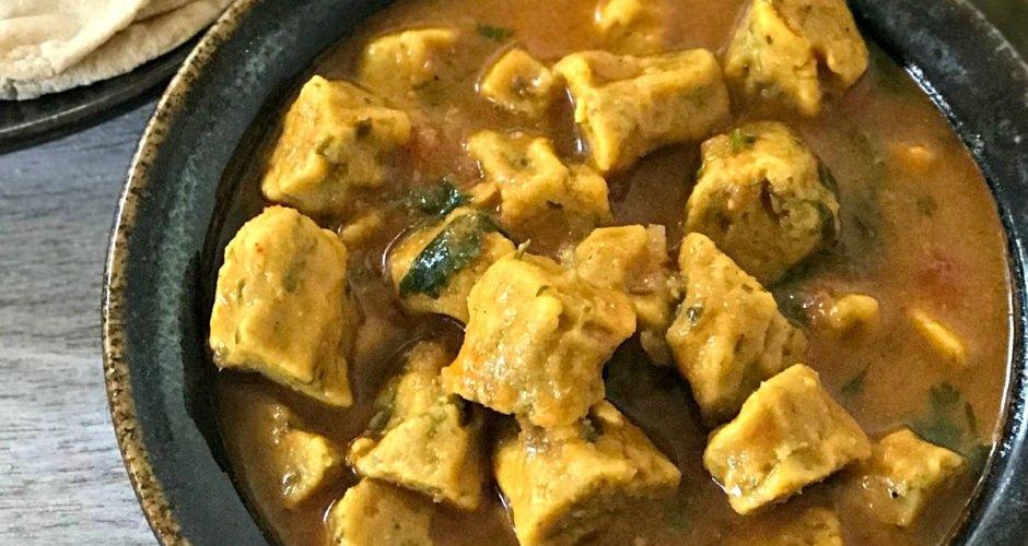 Gram flour dumplings Curry