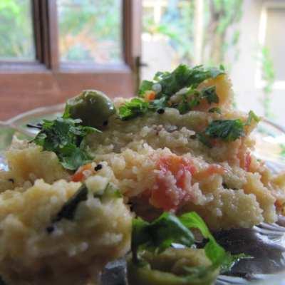 Tomato and Olive Upma