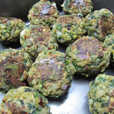 Baked Spinach Balls – High Protein Delight