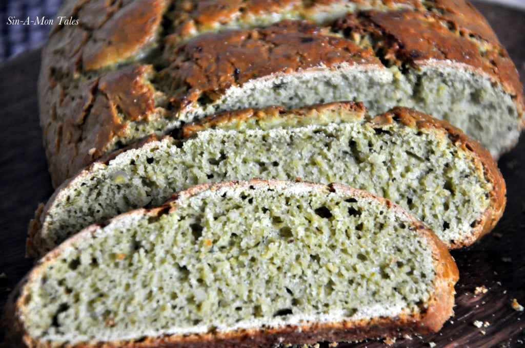 oats pesto bread