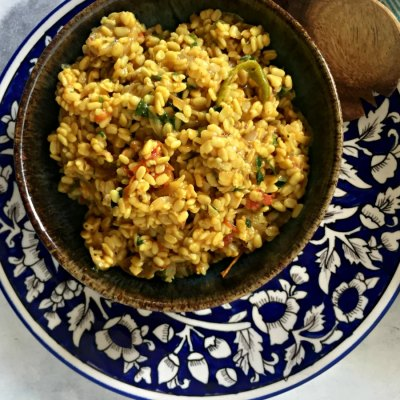 Quick cooking : Dry Dal and Some Childhood Memories