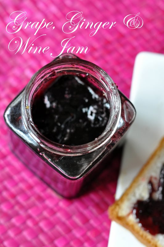 grape ginger wine jam