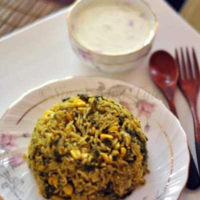 Comfort Food Series : Methi and Corn Pulao