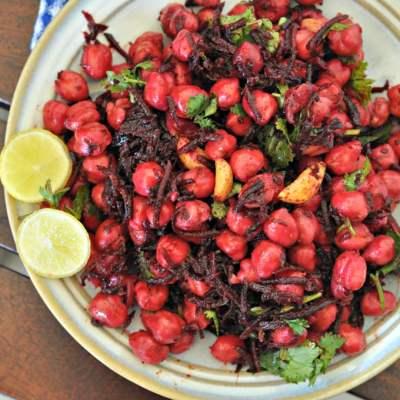 Beetroot & Chickpeas Salad with Burnt Garlic