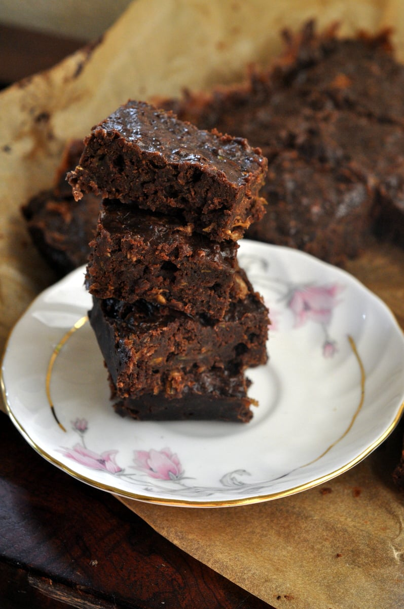 Zucchini and Tofu Vegan Brownies