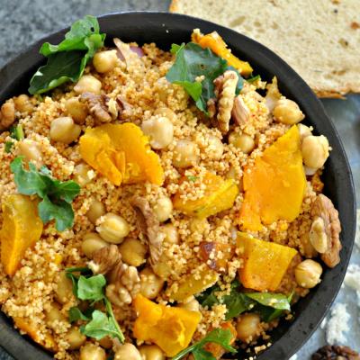 Pumpkin, Couscous & Chickpeas Salad
