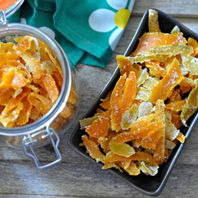 Candied Citrus Peel | Candied Orange and Lemon Peels
