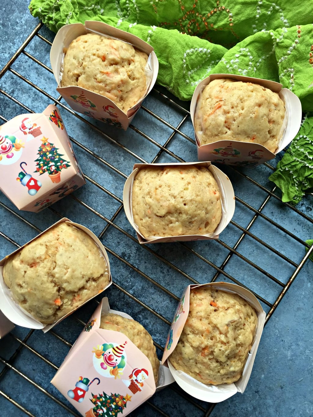 Carrot, Ginger & Candied Citrus Peel Muffins