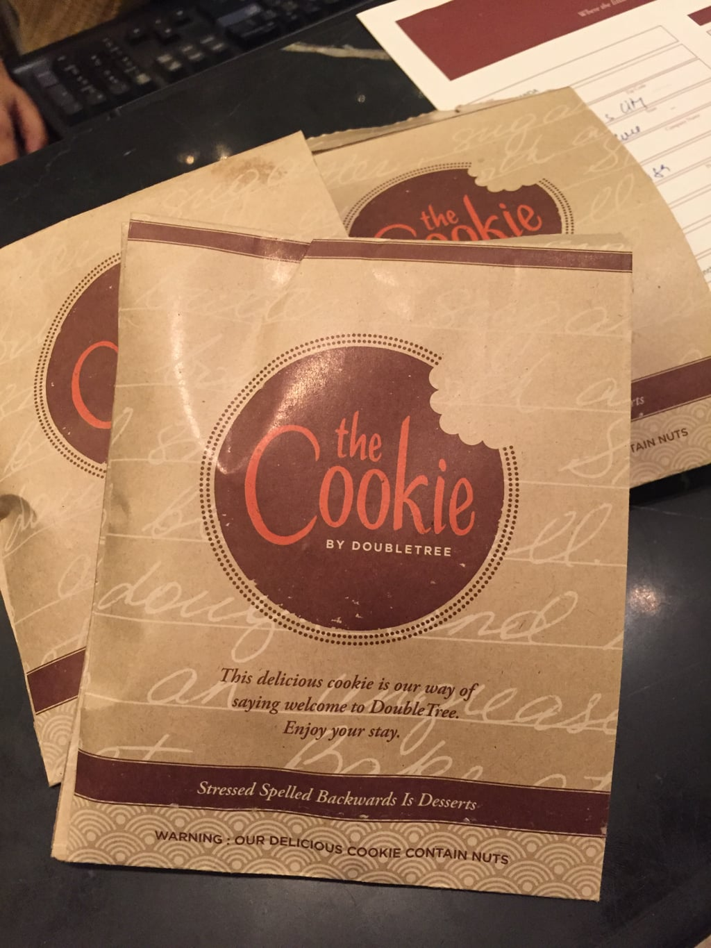 Cookies at Double Tree Suites, Hilton
