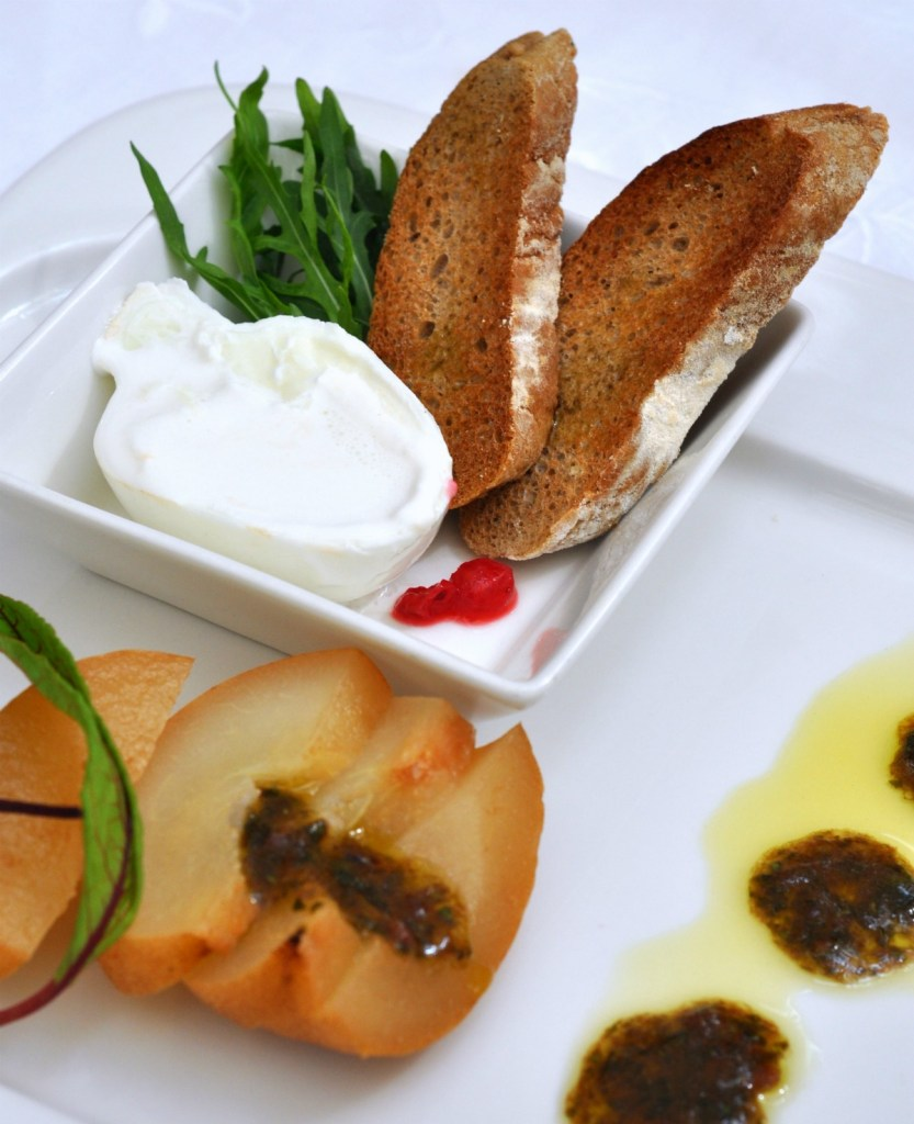 ITC Burratta with Anise Poached Pears