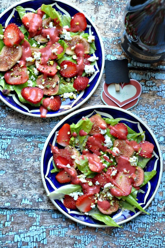 Strawberry Lettuce Feta Cheese Salad