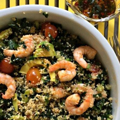 Shrimp Millet and Kale Salad Recipe | Perfect Summer Meal